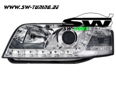 SW-Light Scheinwerfer AUDI A6 4B/C5 97-01 LED TFL-Optik chrome