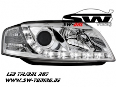 SW-DRL headlights Audi A3 8P 03-08 daytime-running-lamp