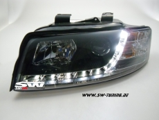 SW-DRL headlights Audi A4 8E 01-04 daytime-running-lamp black