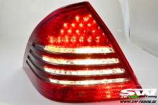 SW-Light LED taillights for Mercedes Benz W203 C-Class 04-07 Facelift red/black
