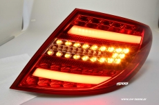 SWCelis LED Tail Lights for Mercedes C-Class W204 07-11 sedan red/clear Lightbar