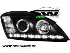 SW-Light Scheinwerfer KIA CEED 06-09 LED-Standlicht black