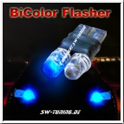 BICOLOR LED Licht mit Flasher/Blitzer- two in one T10