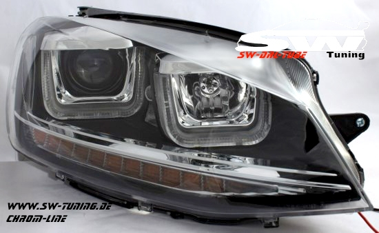 sw drltube scheinwerfer vw golf vii 12 15 led u tfl r87. Black Bedroom Furniture Sets. Home Design Ideas