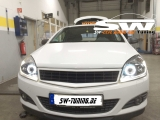 SW Angel Eye Scheinwerfer Opel Astra H 04-11 High LED Lighttube Ring black